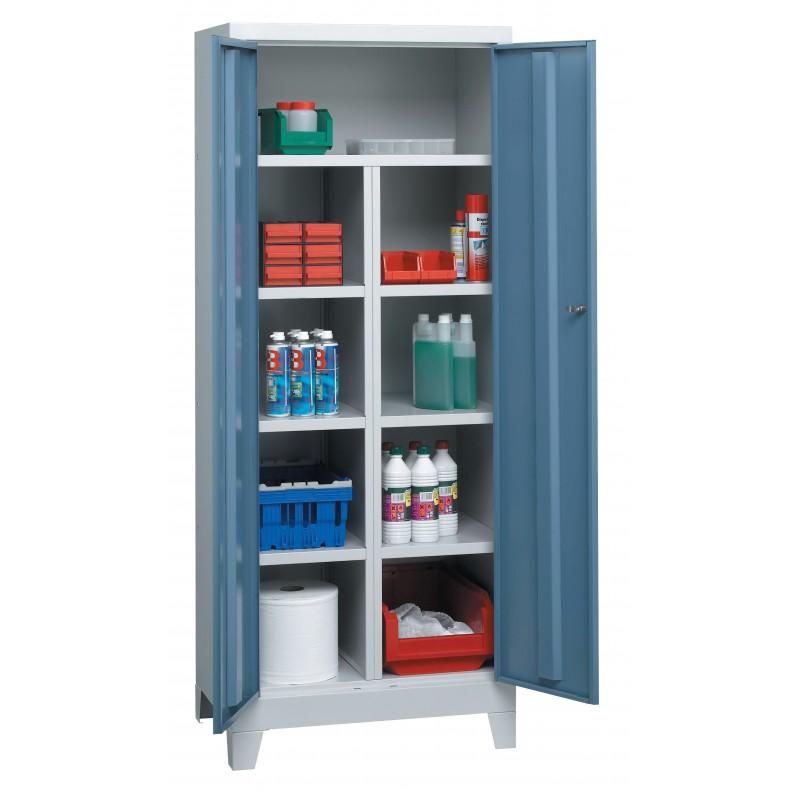 armoire compartiments 1 tablette et 6 demi tablettes. Black Bedroom Furniture Sets. Home Design Ideas
