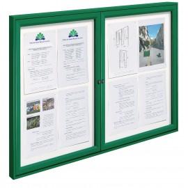 Vitrine TRADITION double cadre peint coloris vert