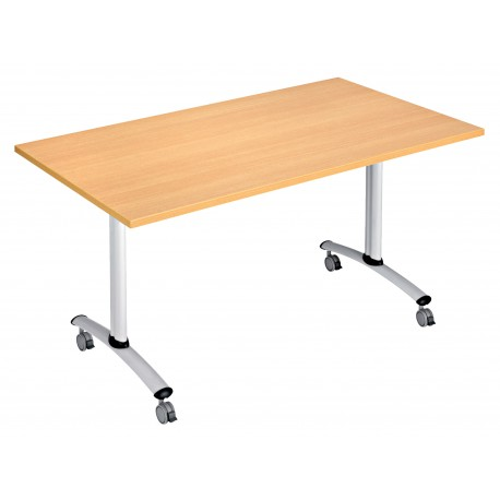 Table basculante flip 120 cm x 80 cm for Table exterieure a roulettes